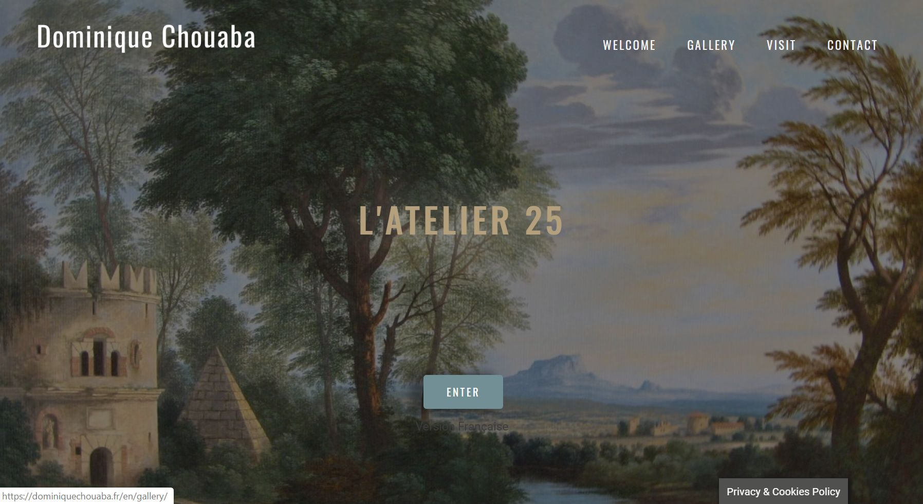 wordpress-website-french-artist-dominiquechouaba