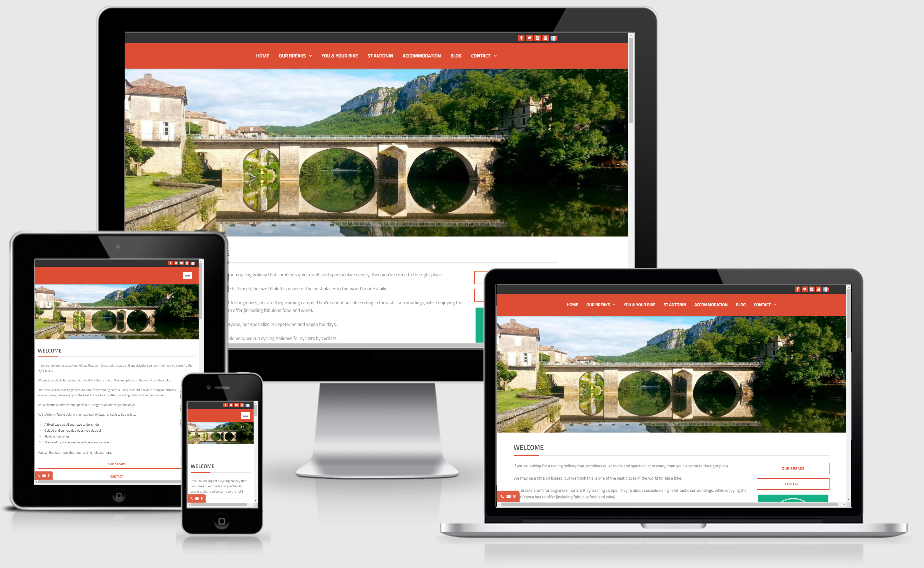 mobile, tablet, and desktop view of the St Antonin Noble Velo website